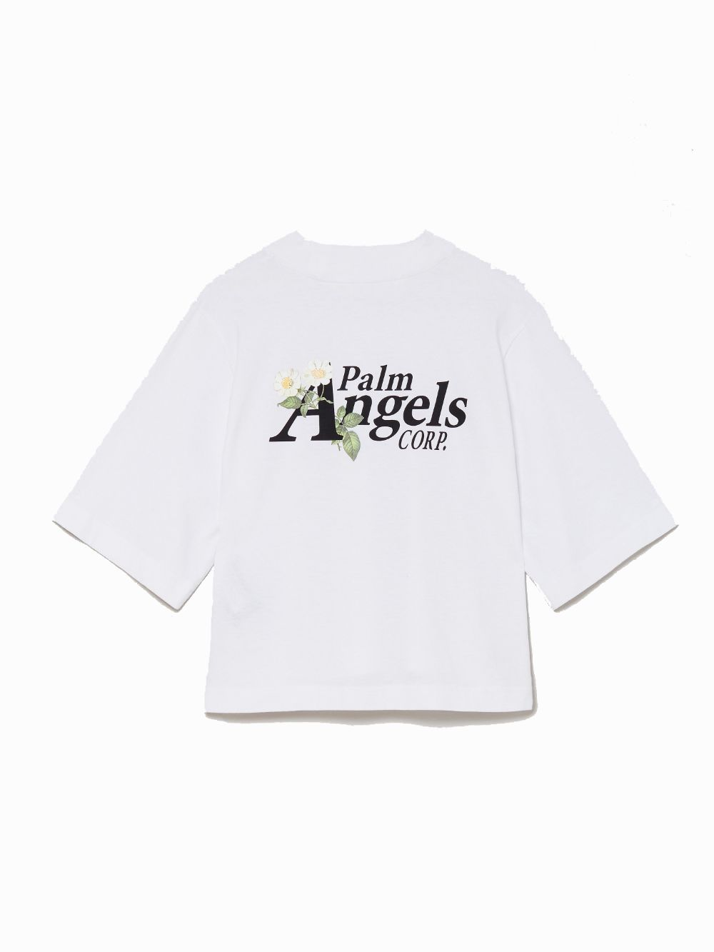 PALM ANGELS T-shirts PALM ANGELS WOMEN'S WHITE COTTON T-SHIRT