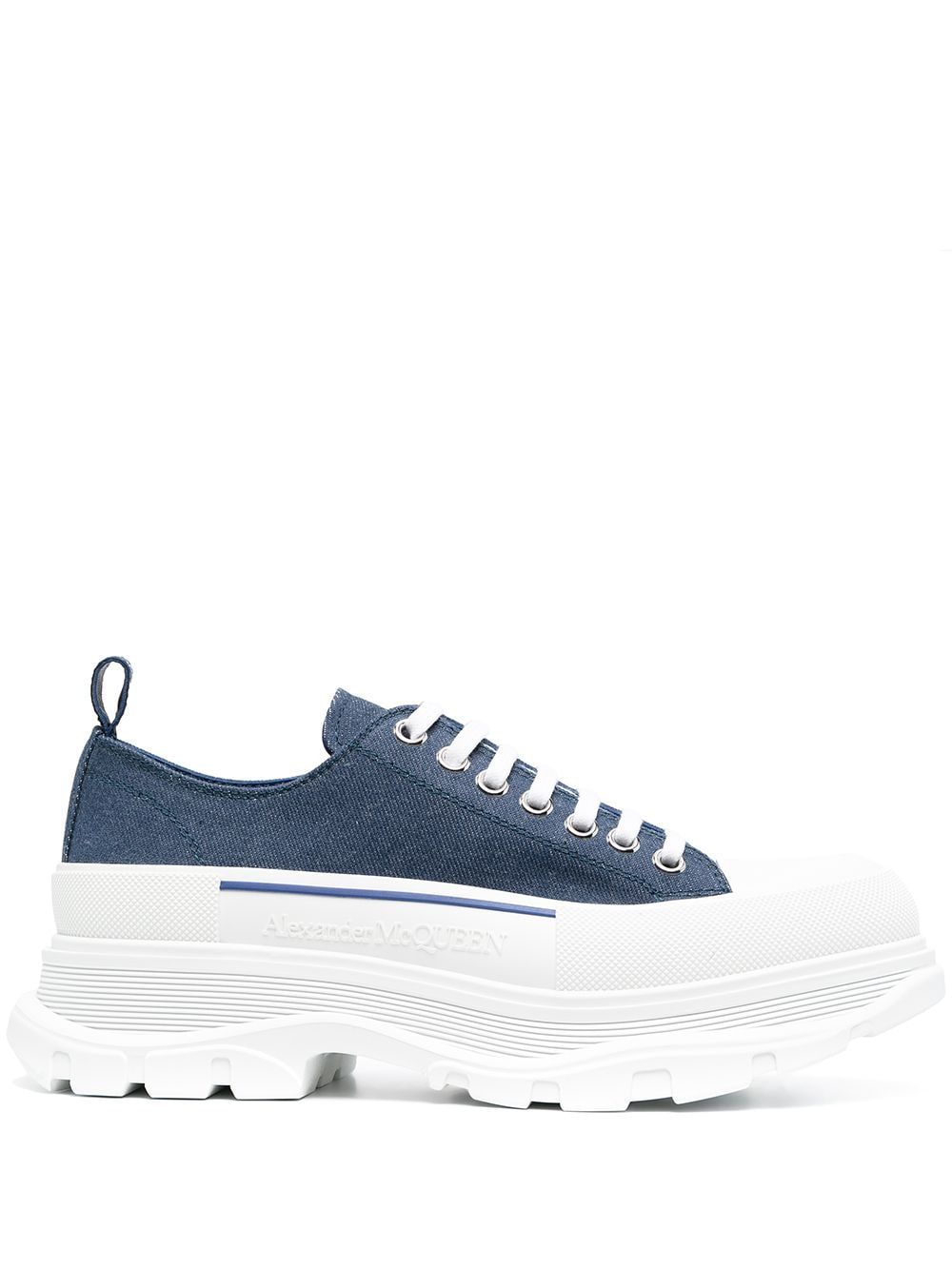 Alexander Mcqueen ALEXANDER MCQUEEN MEN'S BLUE LEATHER SNEAKERS