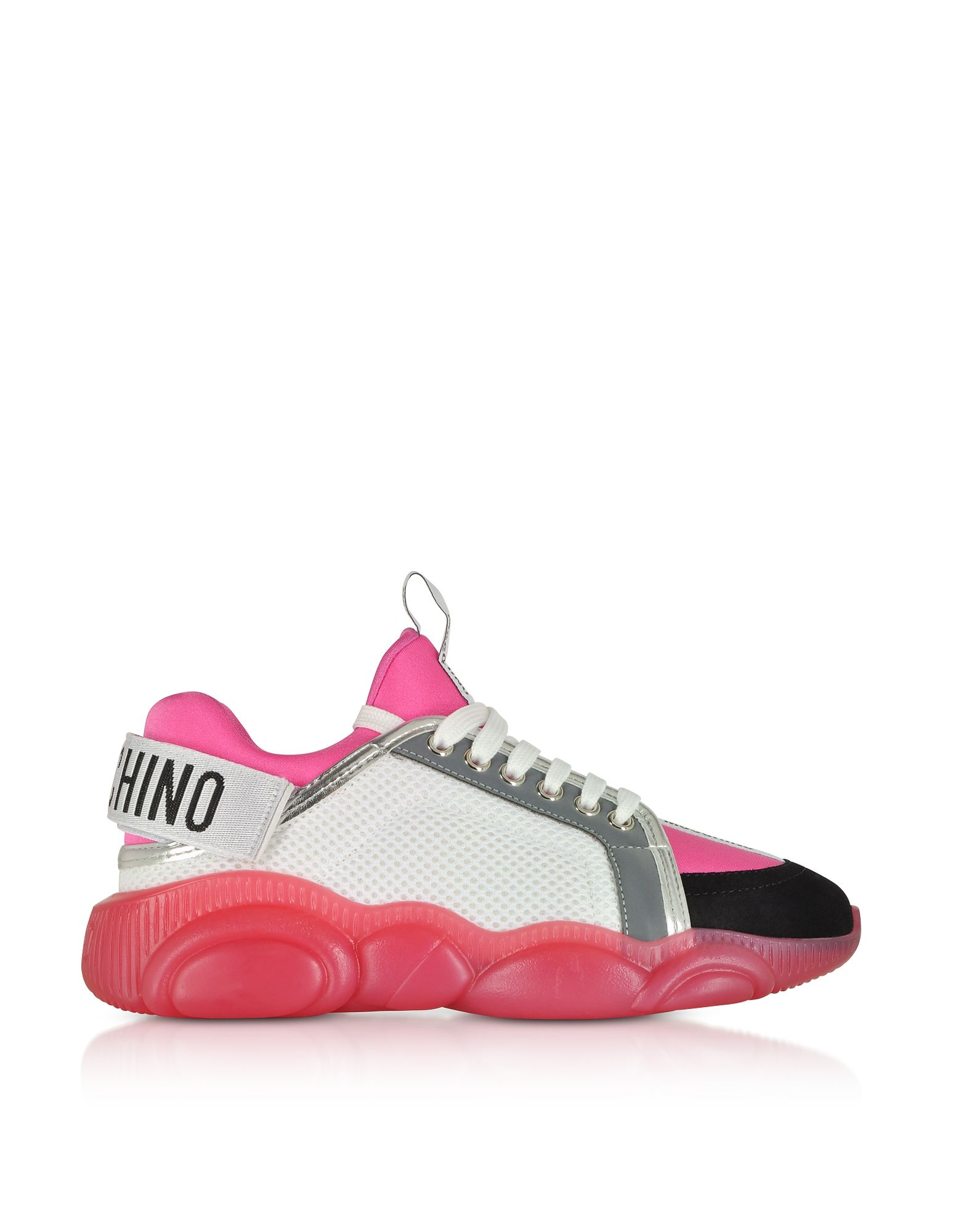 faa321bd4fda7 Moschino Sneakers Teddy Run With Strap Color White / Pink | ModeSens