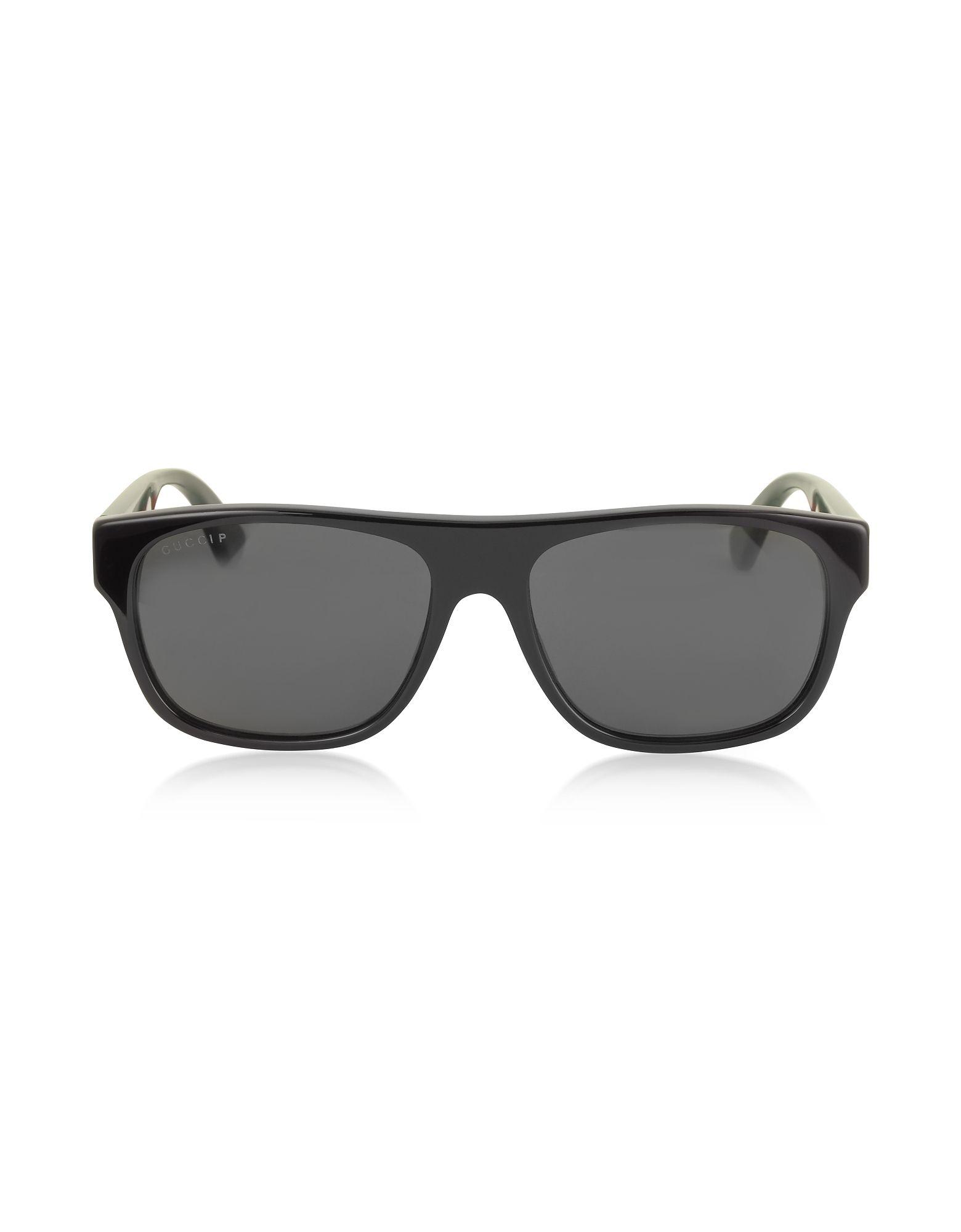 Gucci Men's Black Acetate Sunglasses