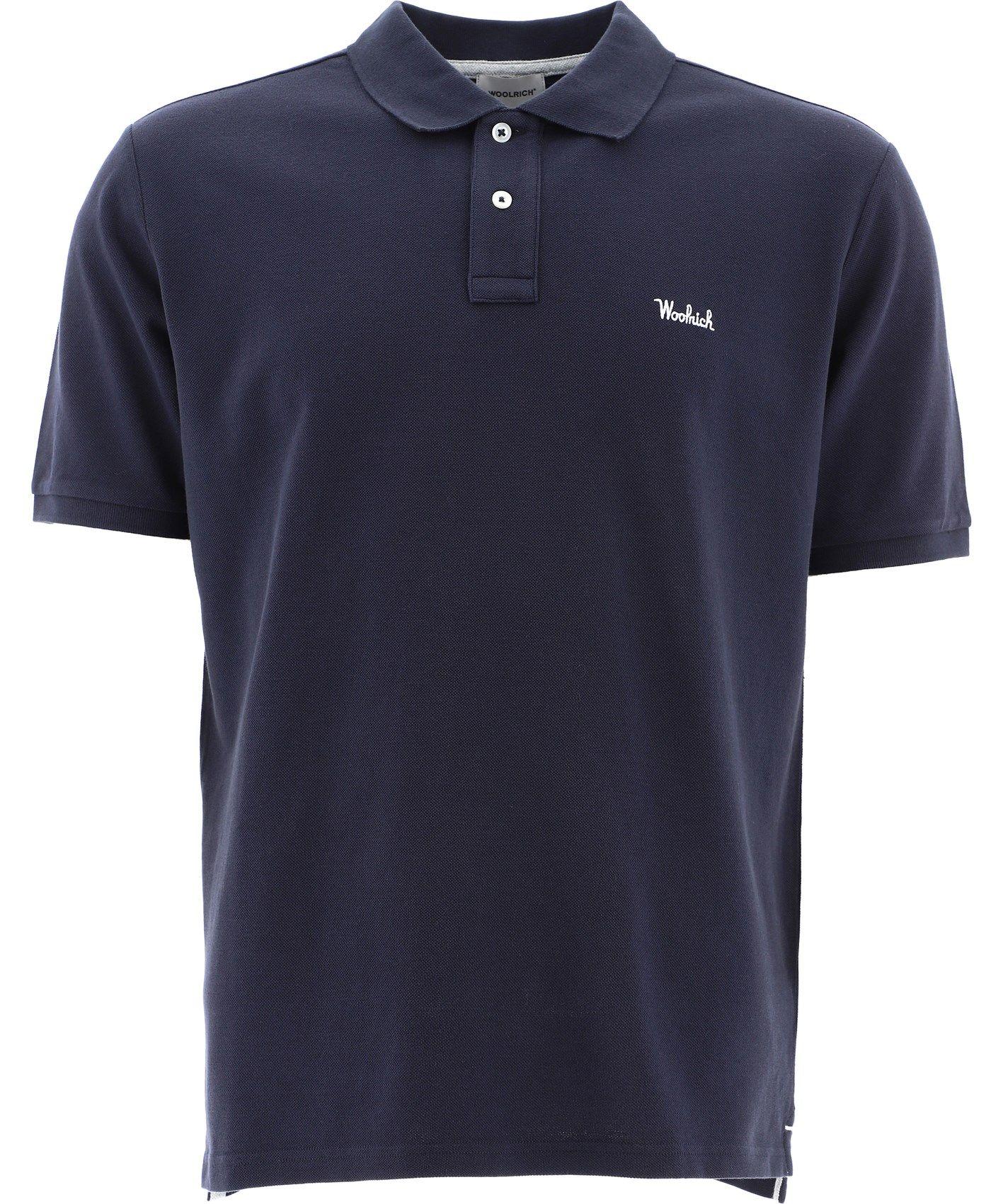 Woolrich Shirts WOOLRICH MEN'S BLUE OTHER MATERIALS POLO SHIRT