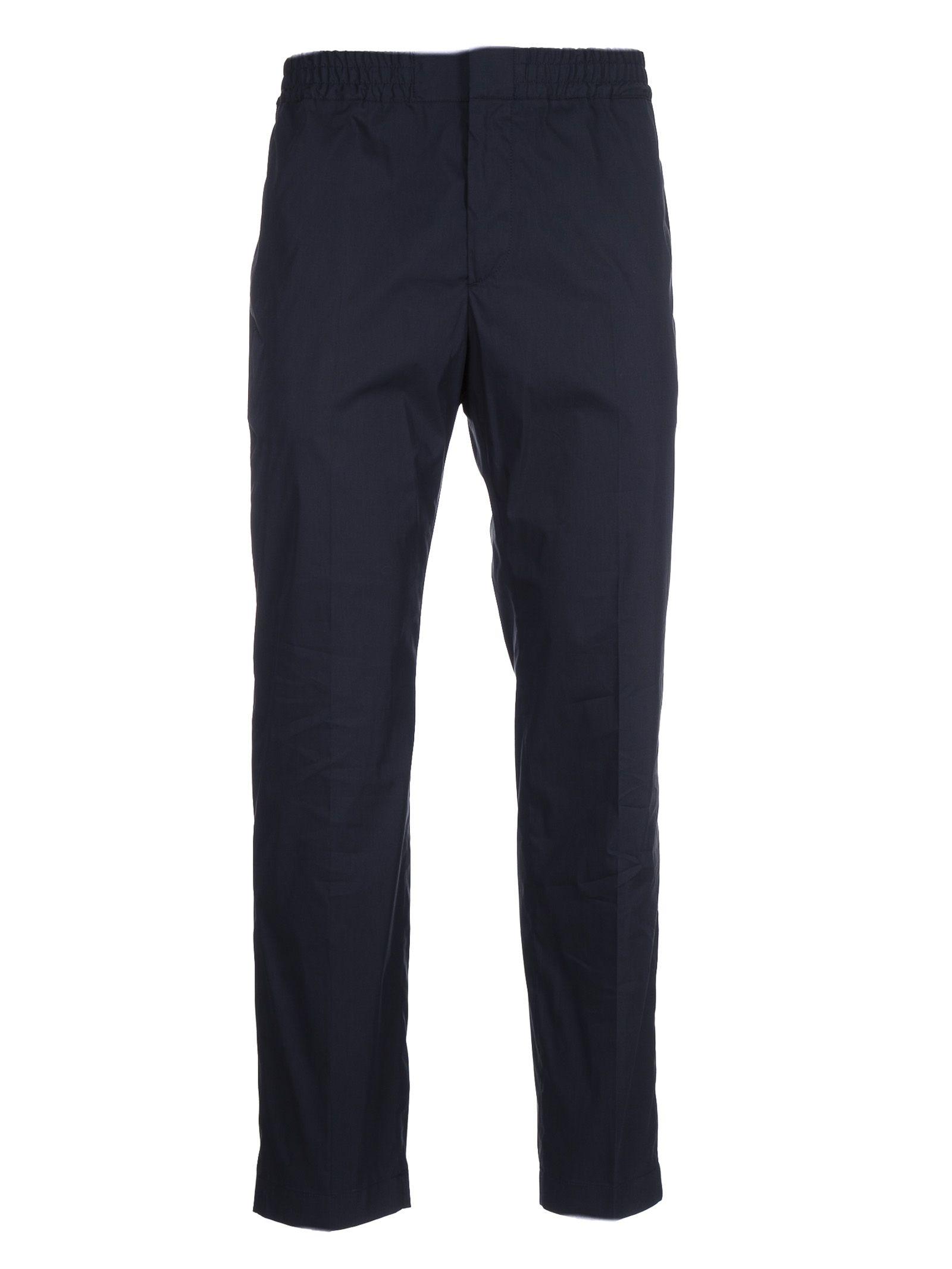 Msgm BLUE COTTON PANTS
