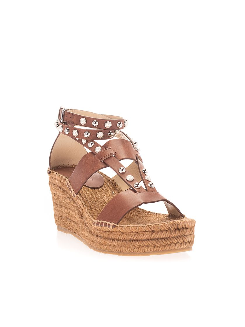 JIMMY CHOO Leathers JIMMY CHOO WOMEN'S BROWN OTHER MATERIALS SANDALS