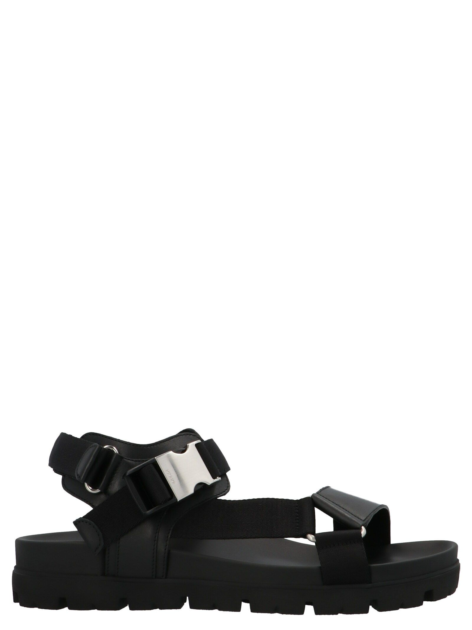 Prada PRADA MEN'S BLACK OTHER MATERIALS SANDALS