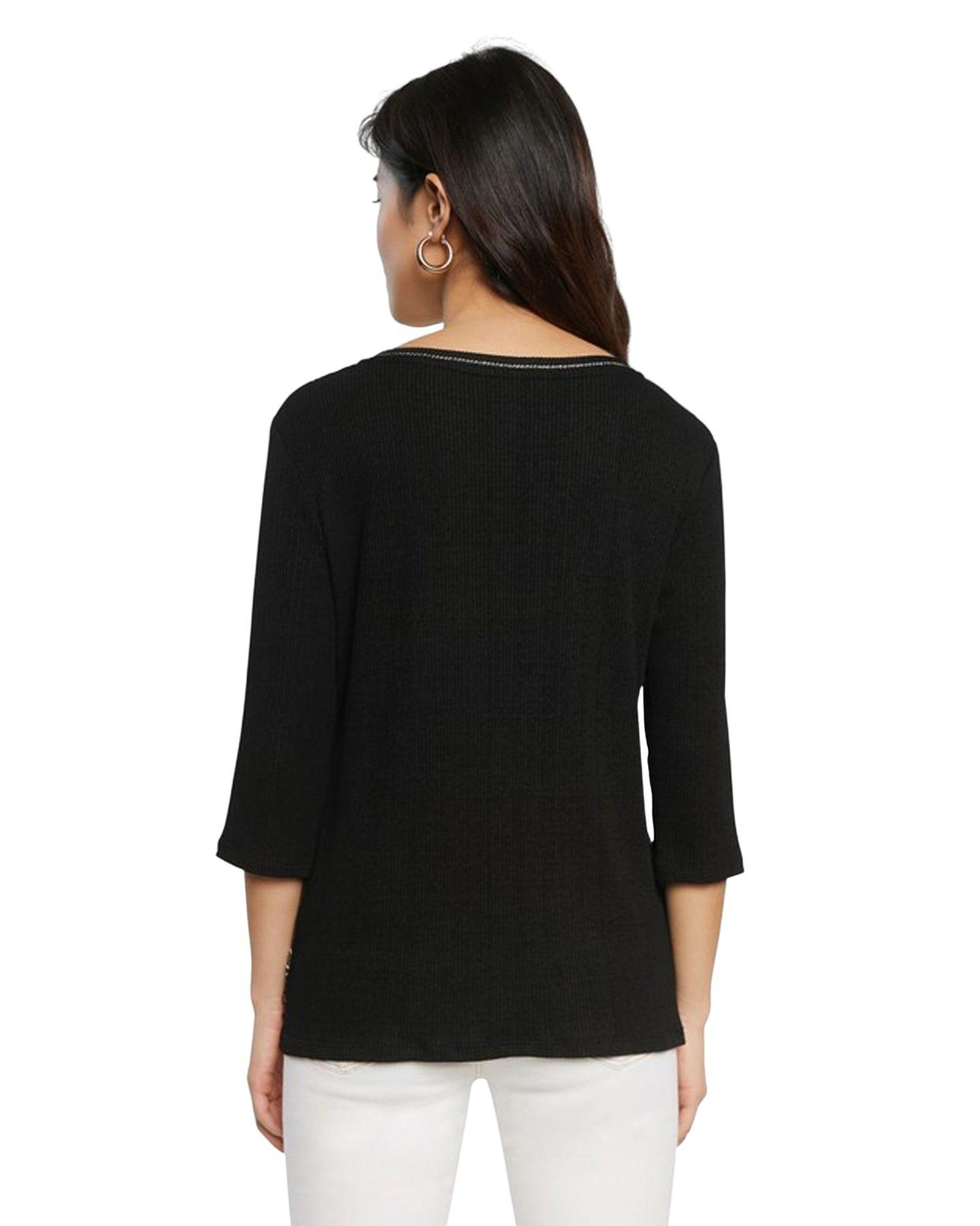 DESIGUAL T-shirts DESIGUAL WOMEN'S BLACK VISCOSE T-SHIRT