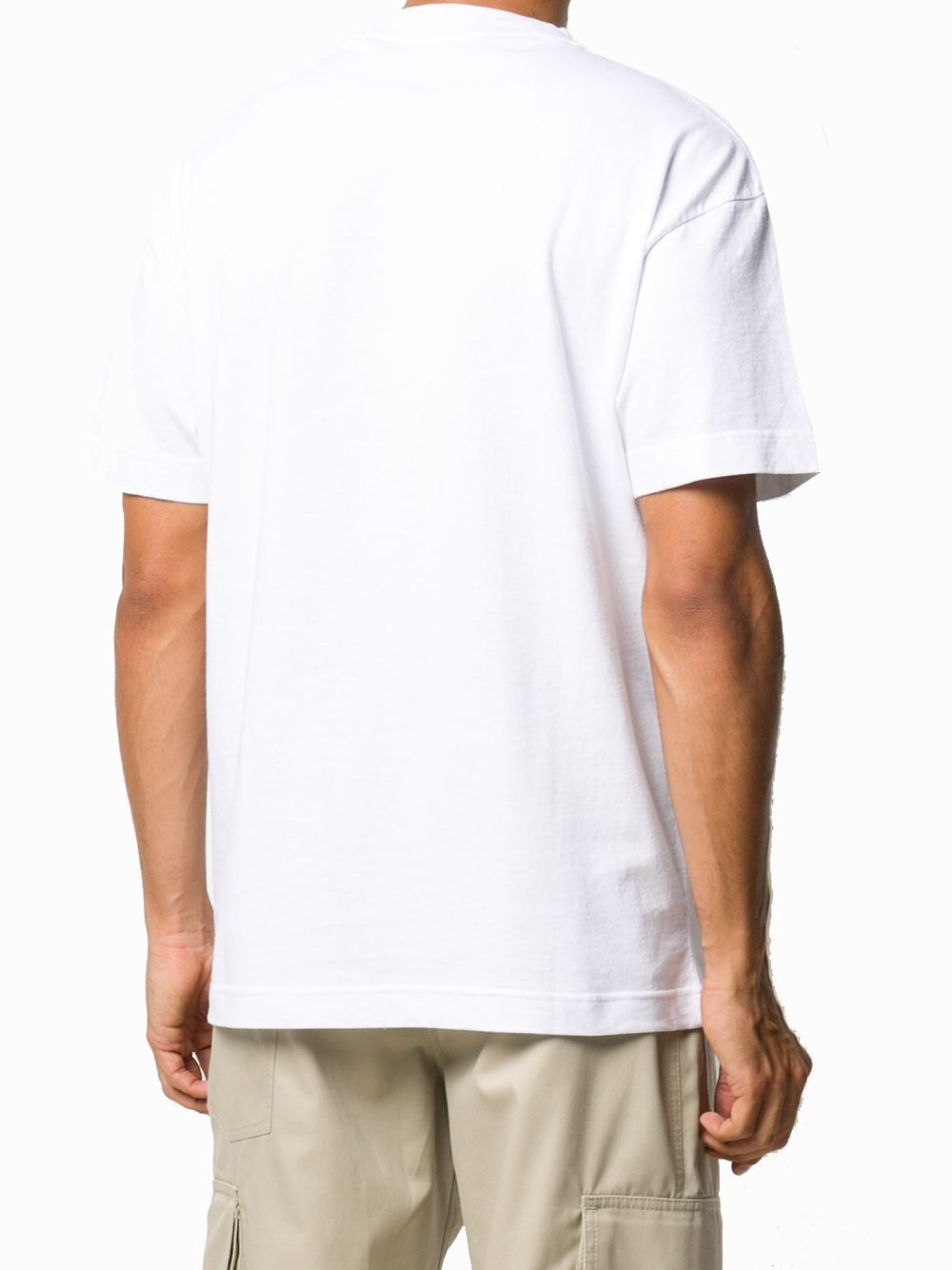 PALM ANGELS T-shirts PALM ANGELS MEN'S WHITE COTTON T-SHIRT