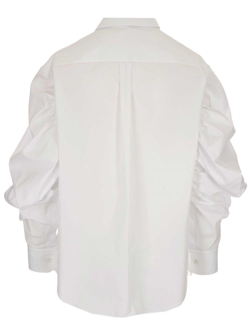 ALEXANDER MCQUEEN Cottons ALEXANDER MCQUEEN WOMEN'S BLACK OTHER MATERIALS SHIRT