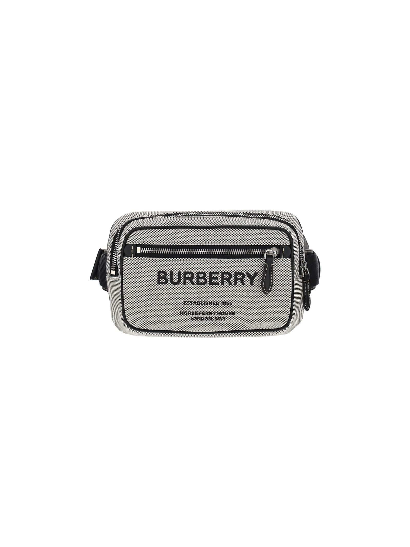 Burberry Belts BURBERRY MEN'S BLACK OTHER MATERIALS BELT BAG