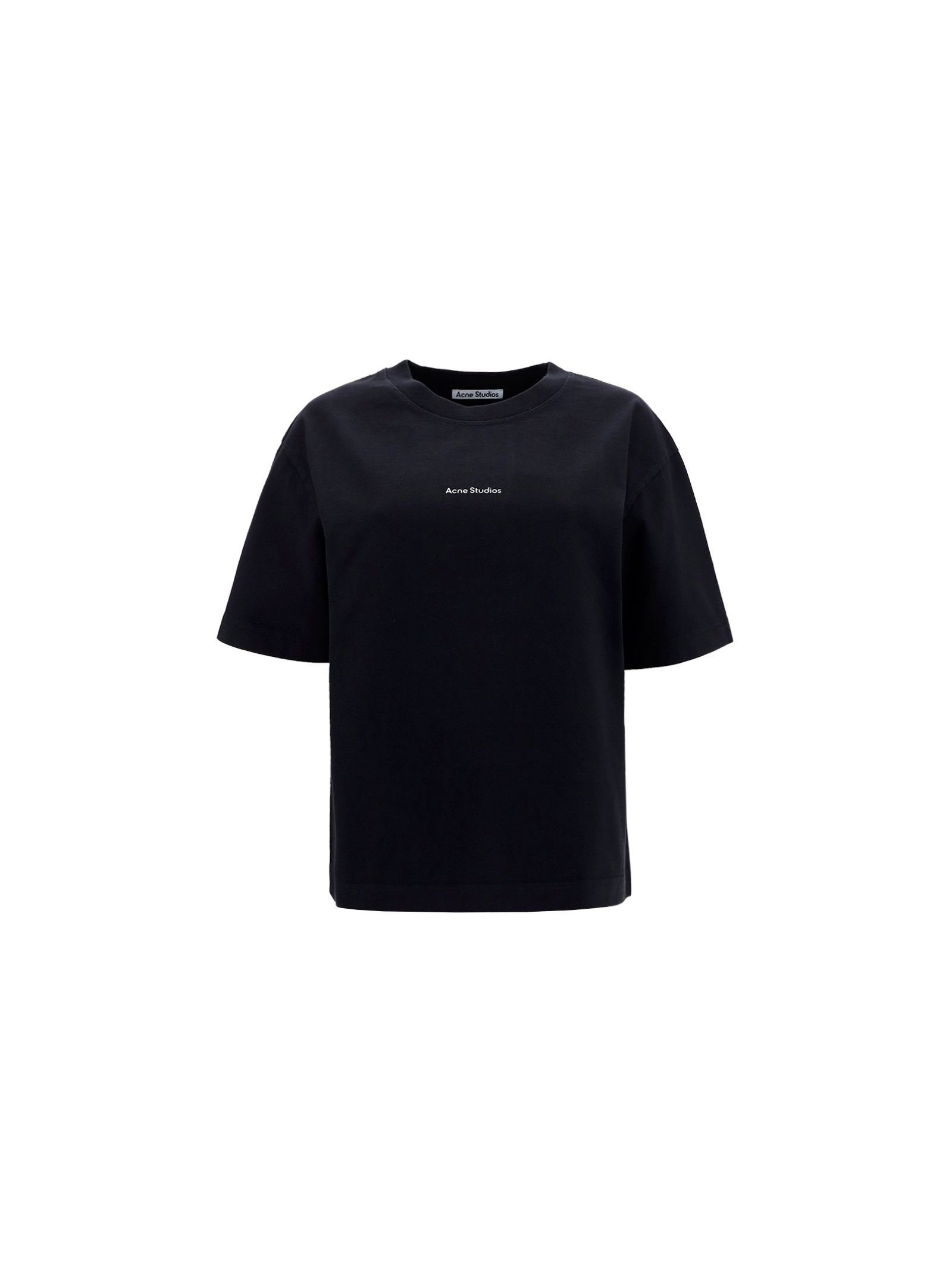 Acne Studios ACNE STUDIOS WOMEN'S BLACK OTHER MATERIALS T-SHIRT