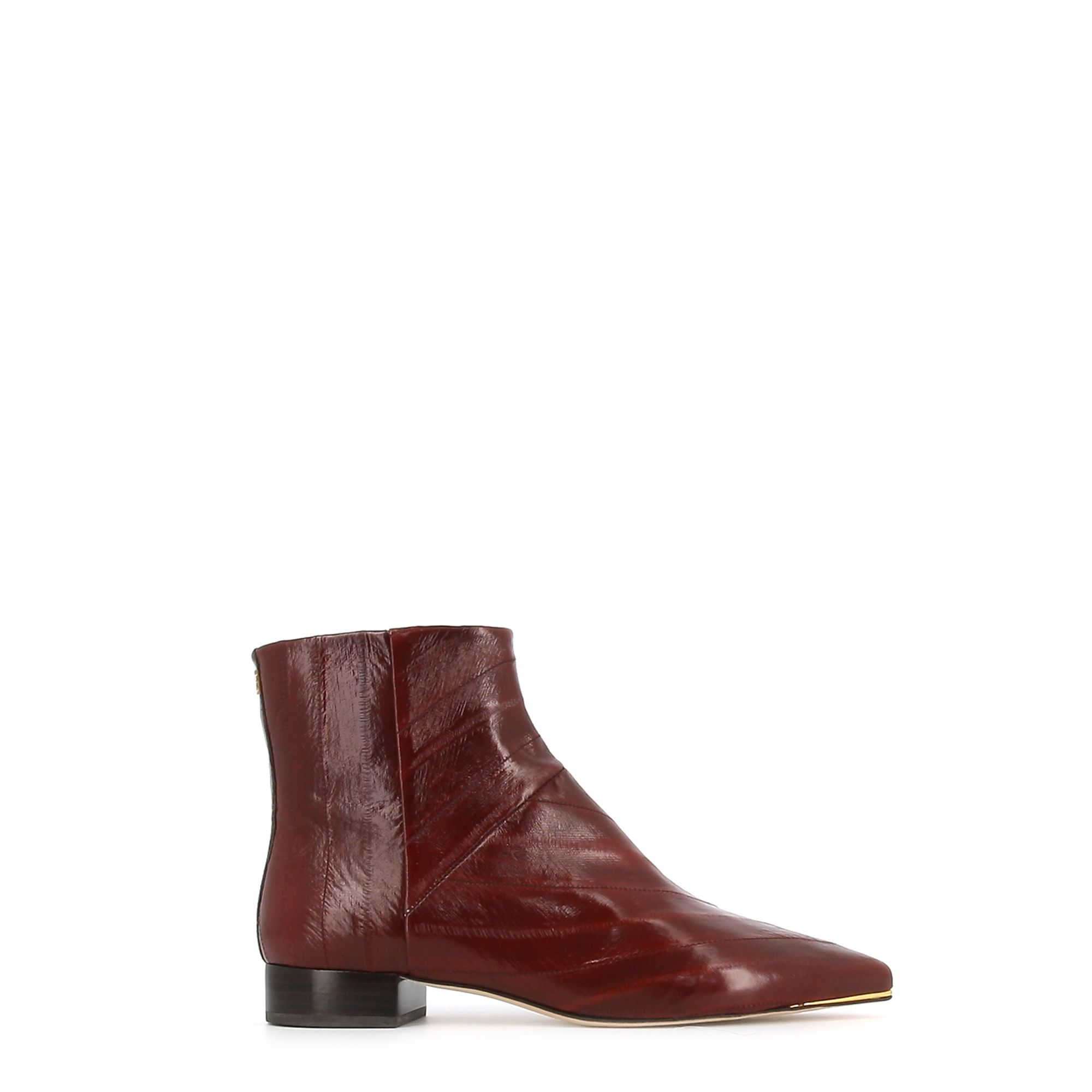 Tory Burch TORY BURCH WOMEN'S BURGUNDY LEATHER ANKLE BOOTS