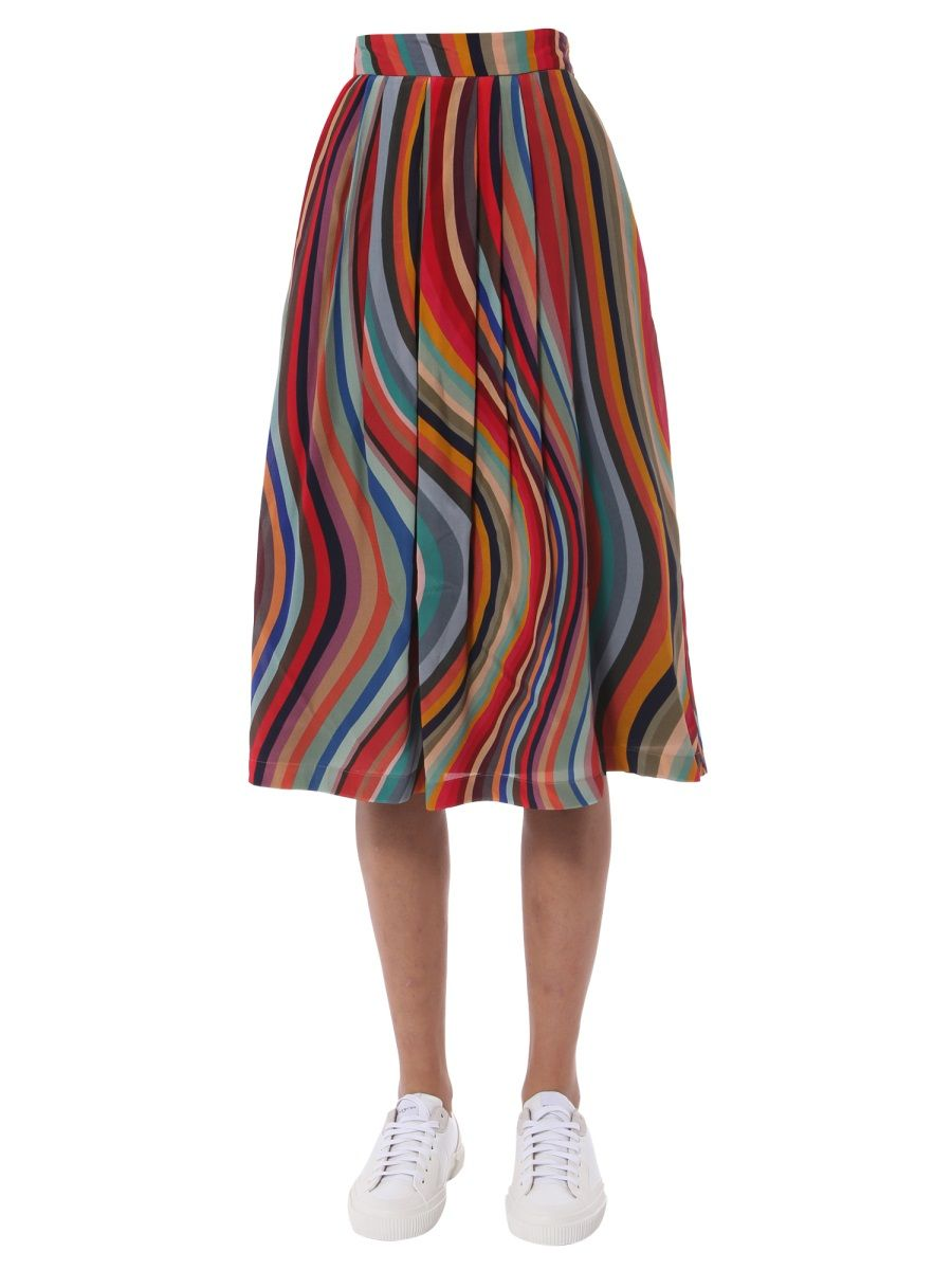 Ps By Paul Smith Silks PS BY PAUL SMITH MULTICOLOR SKIRT