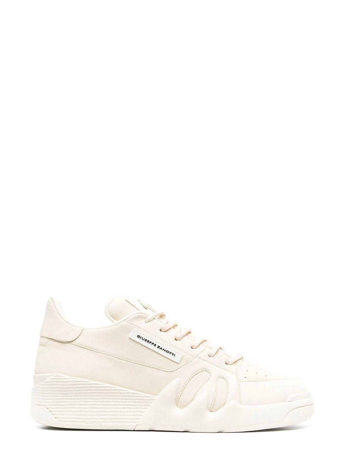 Giuseppe Zanotti Sneakers GIUSEPPE ZANOTTI DESIGN MEN'S BEIGE LEATHER SNEAKERS