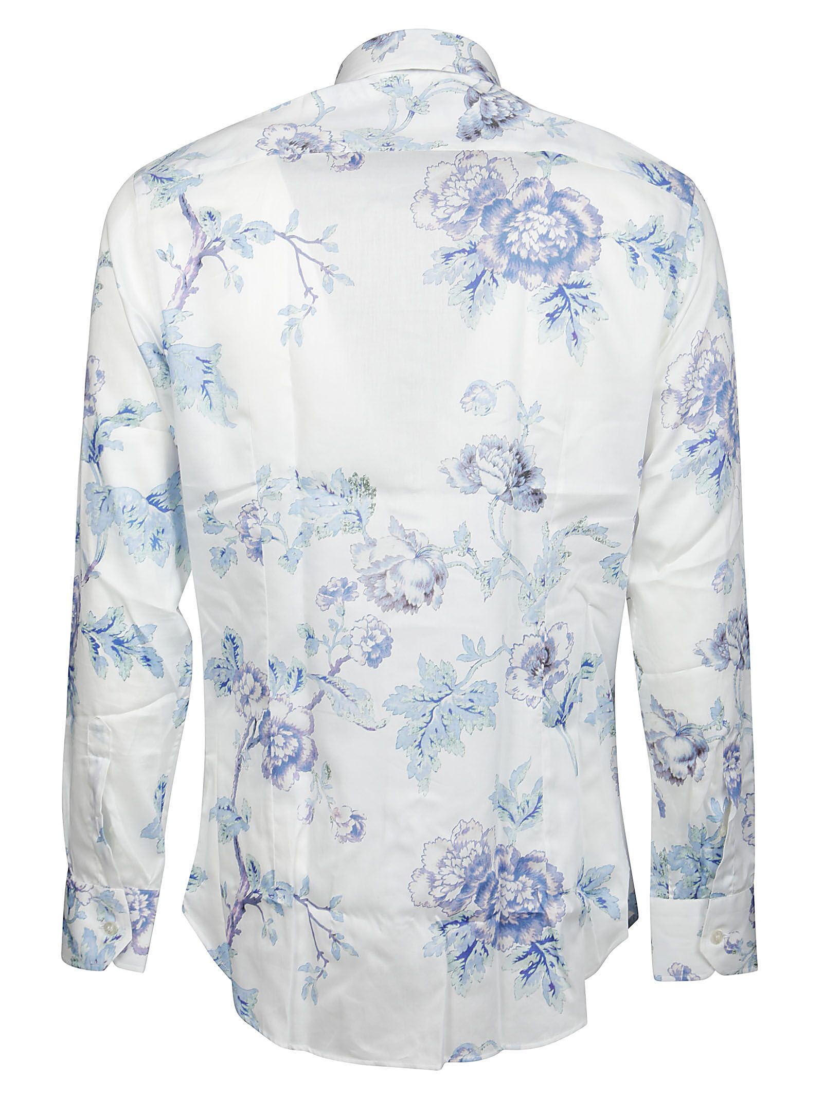 ETRO Cottons ETRO MEN'S WHITE OTHER MATERIALS SHIRT