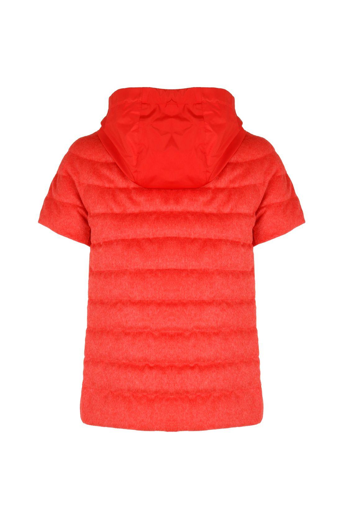 HERNO Jackets HERNO WOMEN'S RED SILK DOWN JACKET