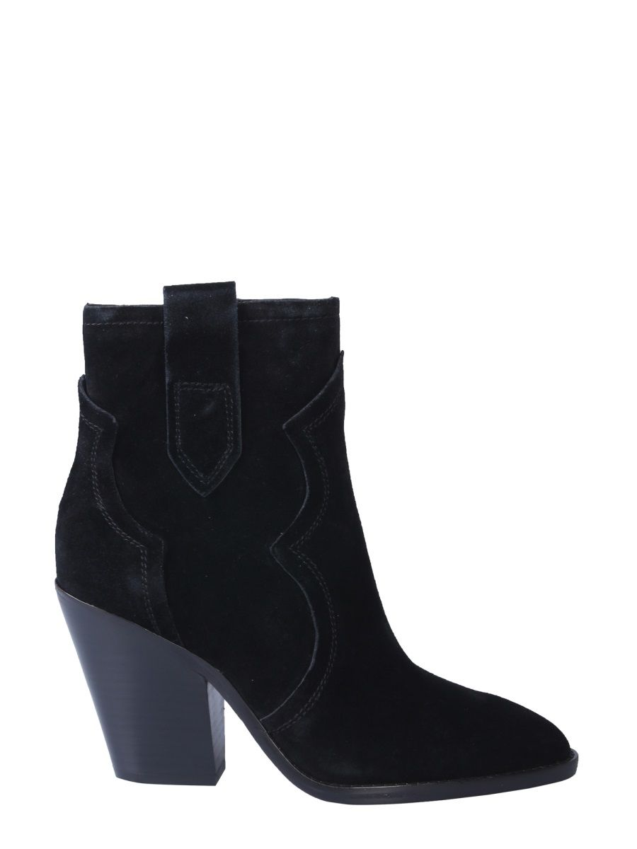 Ash Esquire Suede Ankle Boots In Black