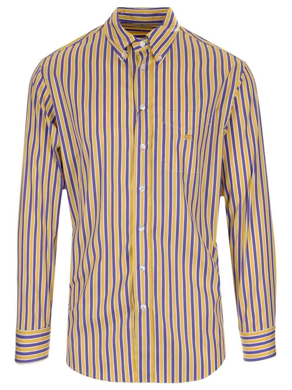 Etro ETRO MEN'S YELLOW OTHER MATERIALS SHIRT