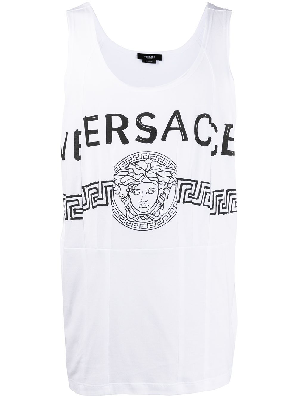 Versace VERSACE MEN'S WHITE COTTON T-SHIRT