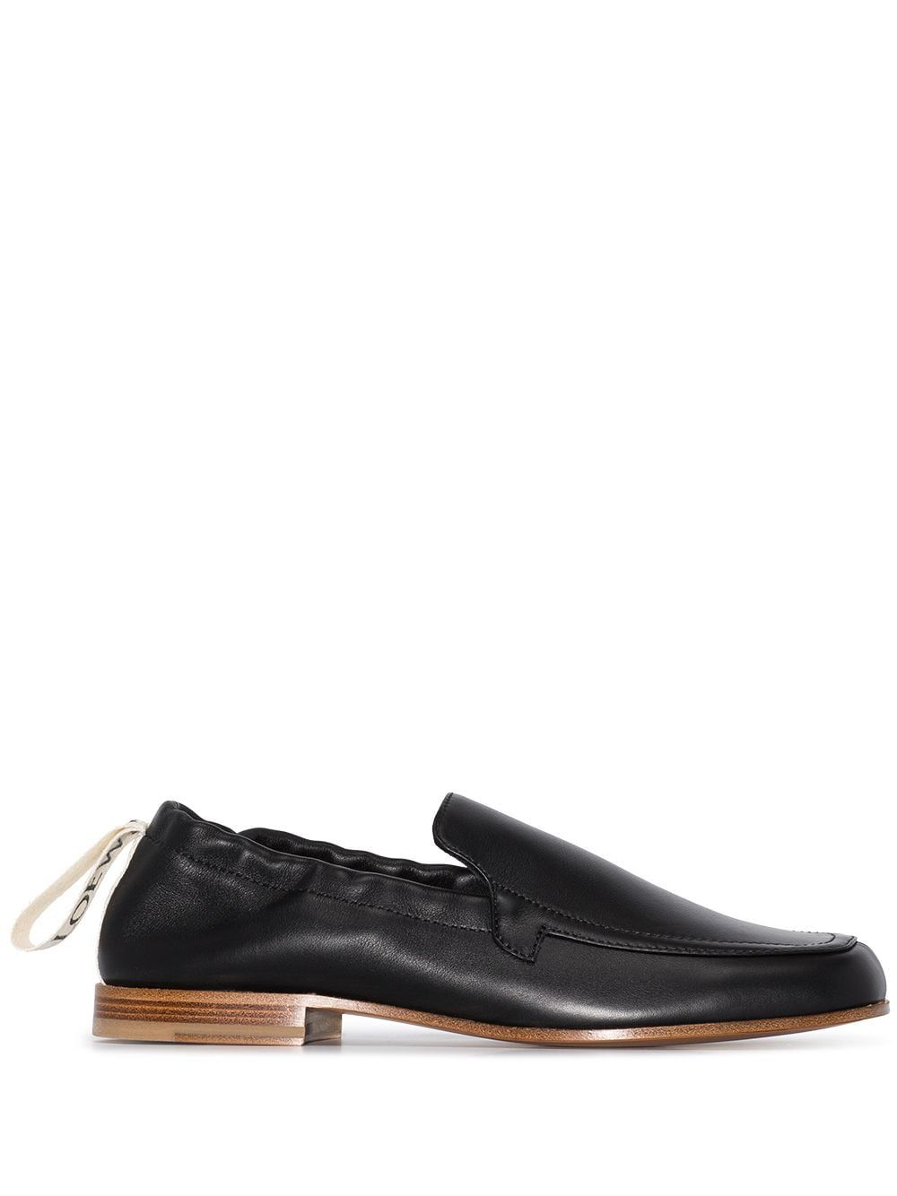 Loewe LOEWE WOMEN'S BLACK LEATHER LOAFERS