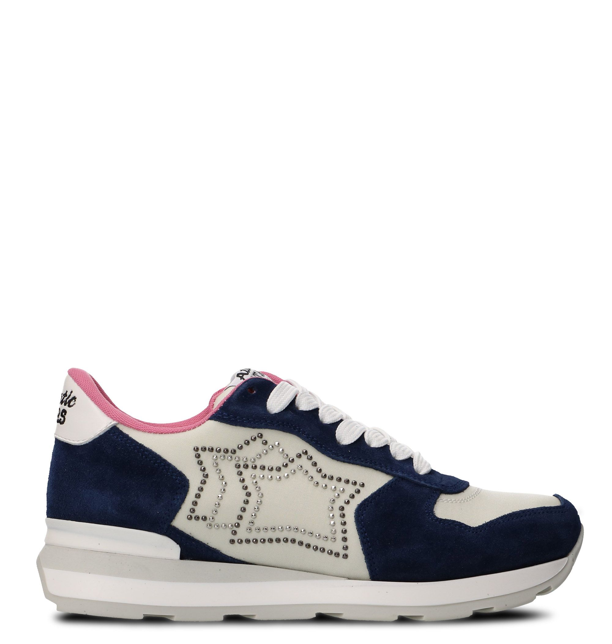 Atlantic Stars White/blue Leather Sneakers