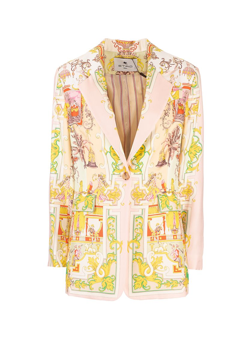 Etro ETRO WOMEN'S PINK OTHER MATERIALS BLAZER