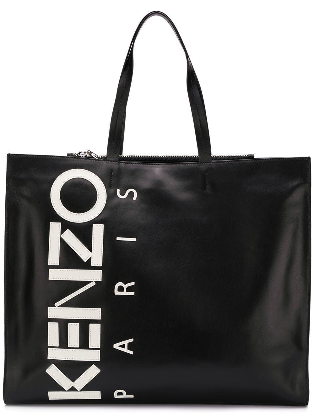 Kenzo Black Leather Tote