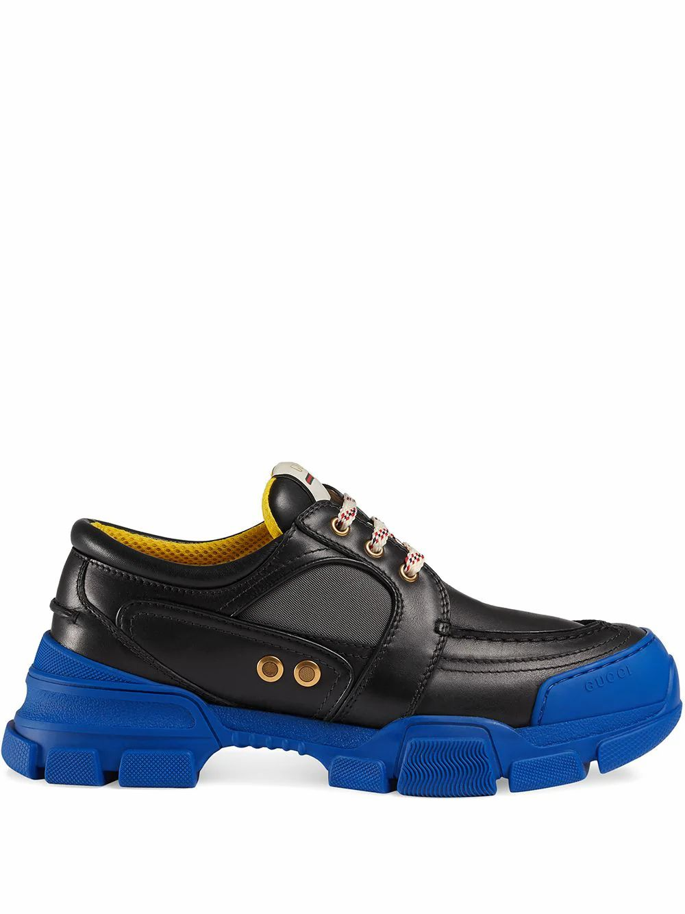 Gucci GUCCI MEN'S BLACK LEATHER SNEAKERS