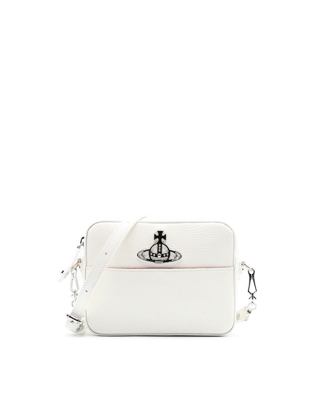 Vivienne Westwood White Leather Shoulder Bag