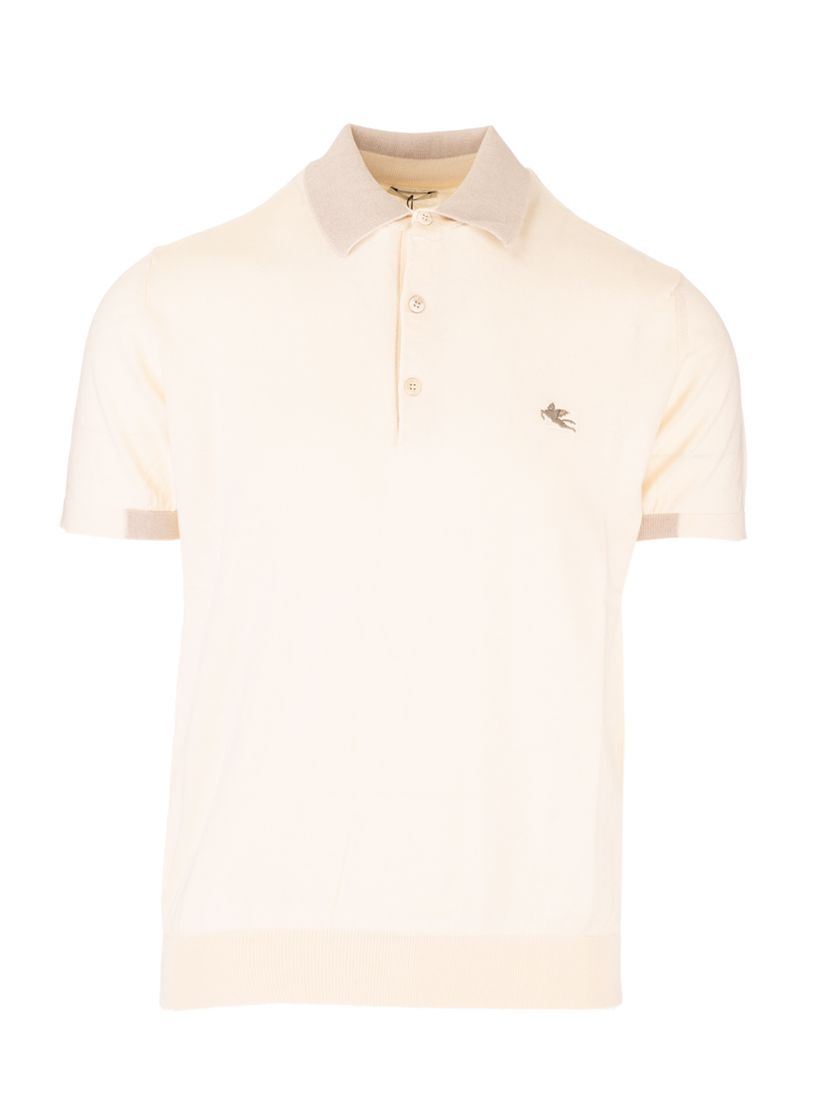 Etro ETRO MEN'S LIGHT BLUE OTHER MATERIALS POLO SHIRT