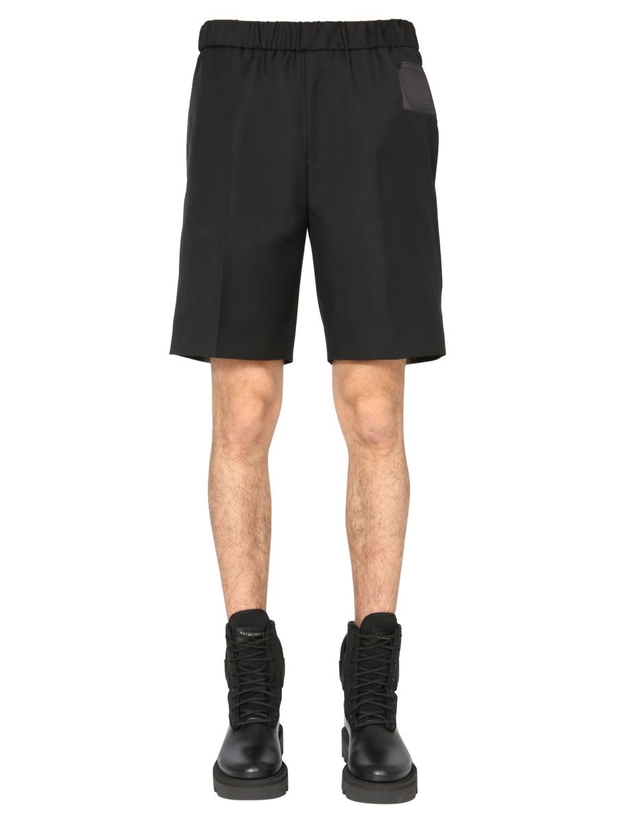 Givenchy GIVENCHY MEN'S BLACK OTHER MATERIALS SHORTS