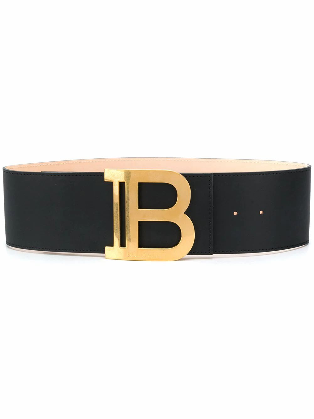 Balmain BALMAIN WOMEN'S BLACK LEATHER BELT