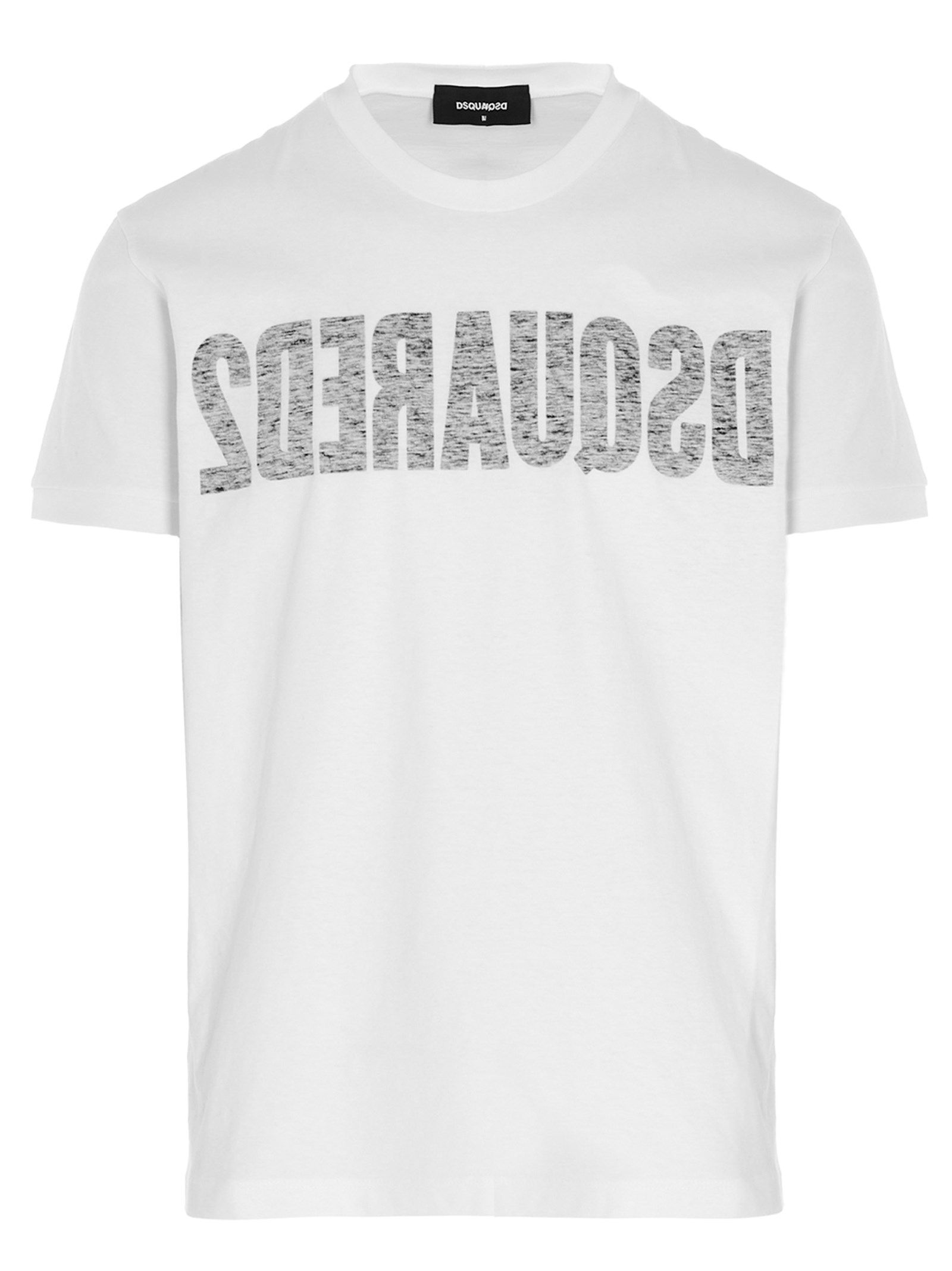 Dsquared2 Cottons DSQUARED2 MEN'S WHITE OTHER MATERIALS T-SHIRT