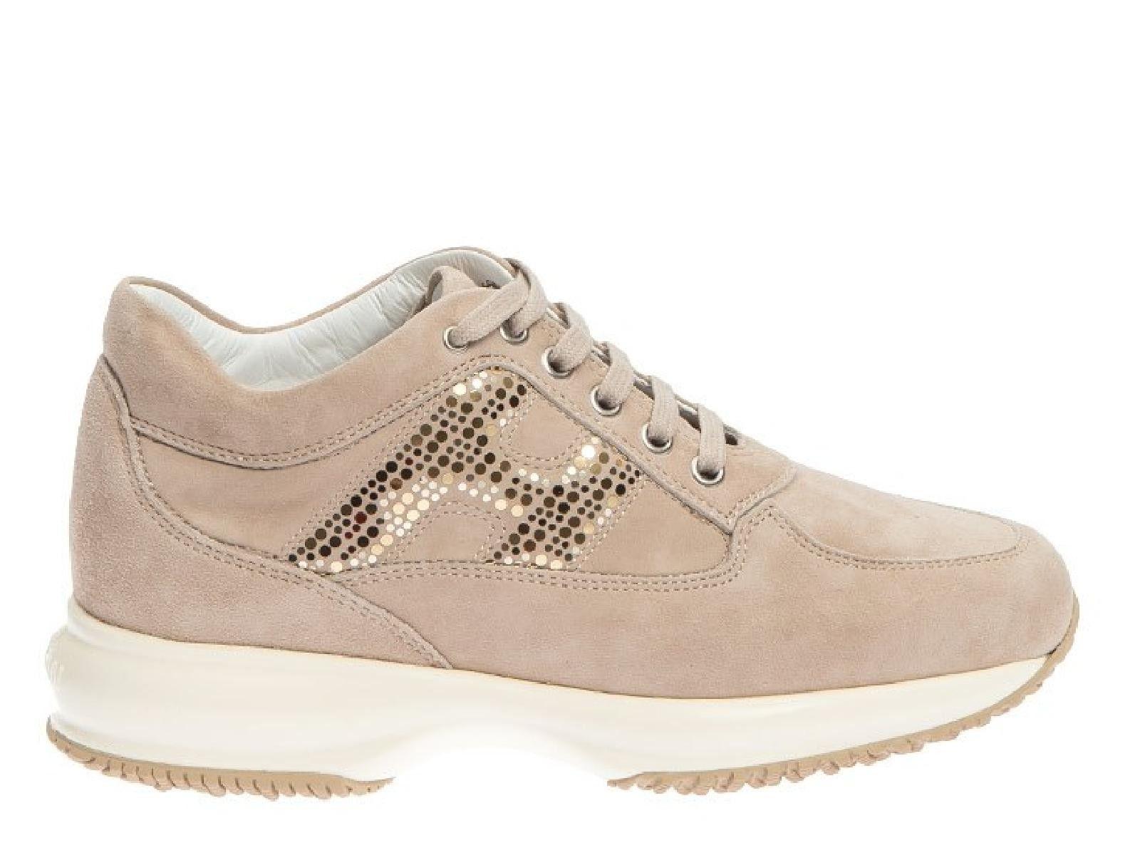 Hogan Beige Suede Sneakers
