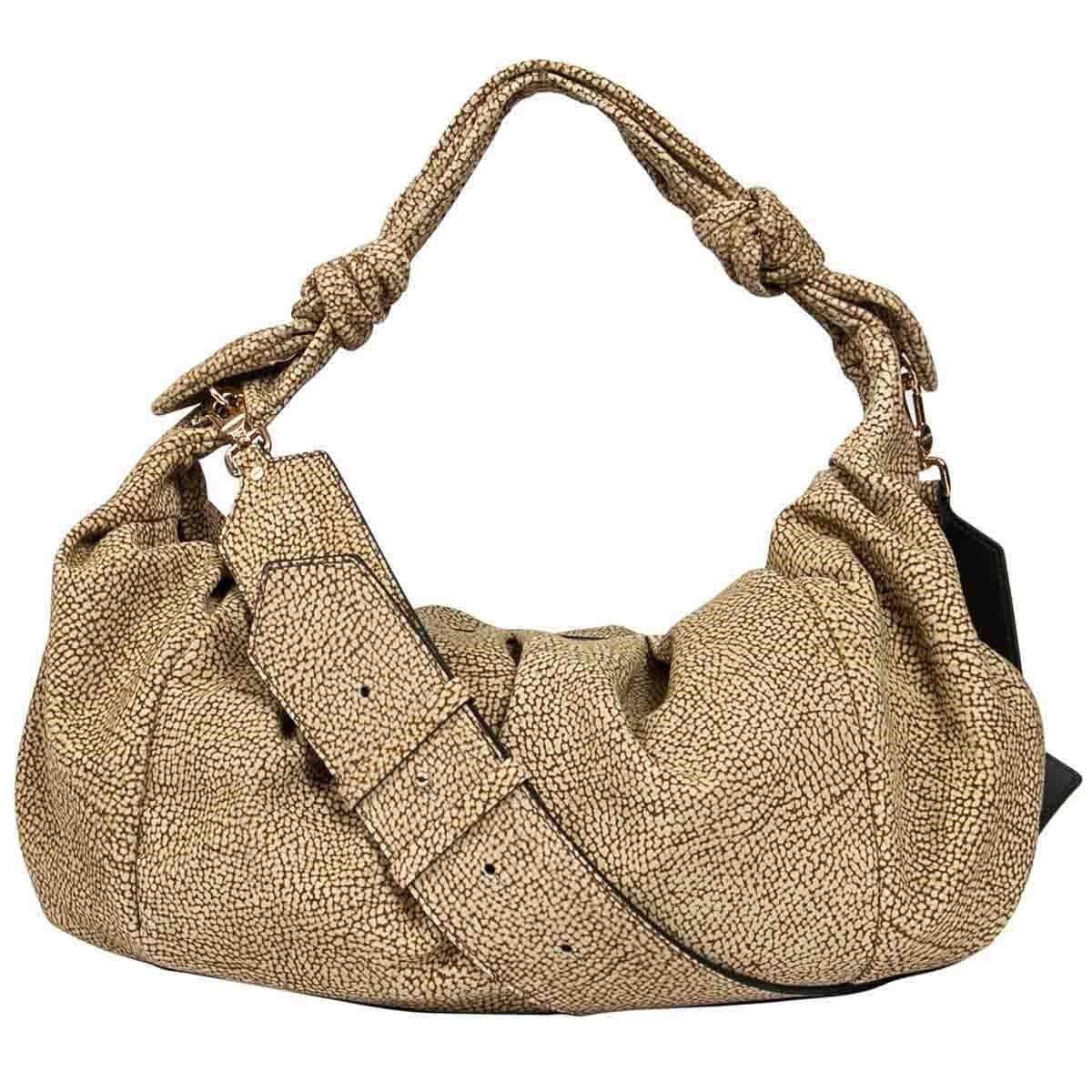 Borbonese Shoulder bags BORBONESE WOMEN'S BROWN POLYESTER SHOULDER BAG