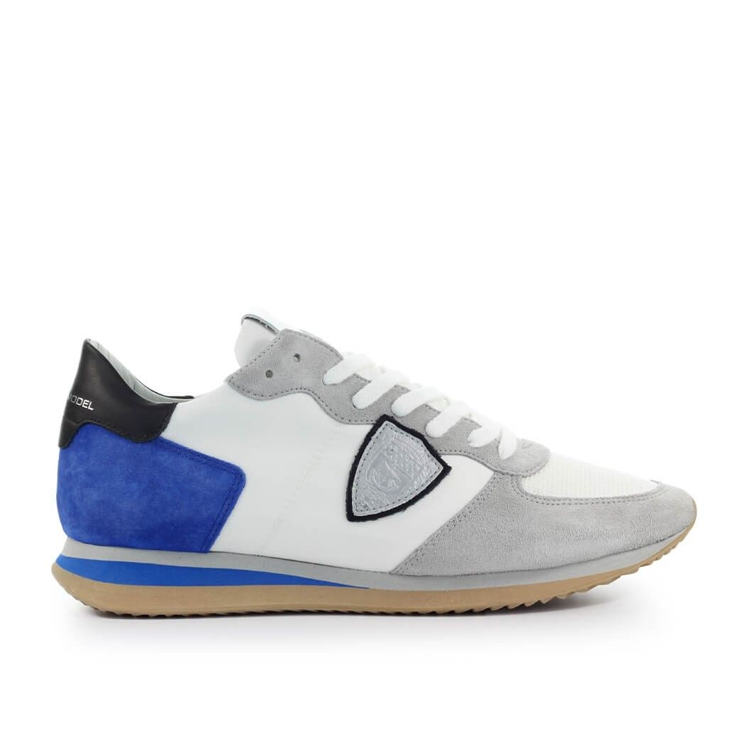 Philippe Model PHILIPPE MODEL MEN'S WHITE SUEDE SNEAKERS