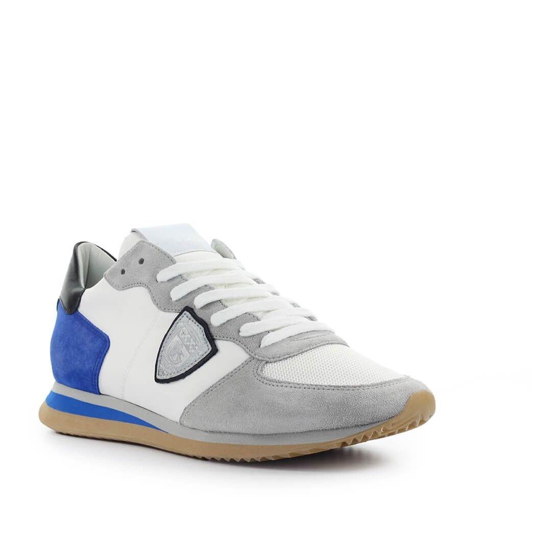 PHILIPPE MODEL Suedes PHILIPPE MODEL MEN'S WHITE SUEDE SNEAKERS