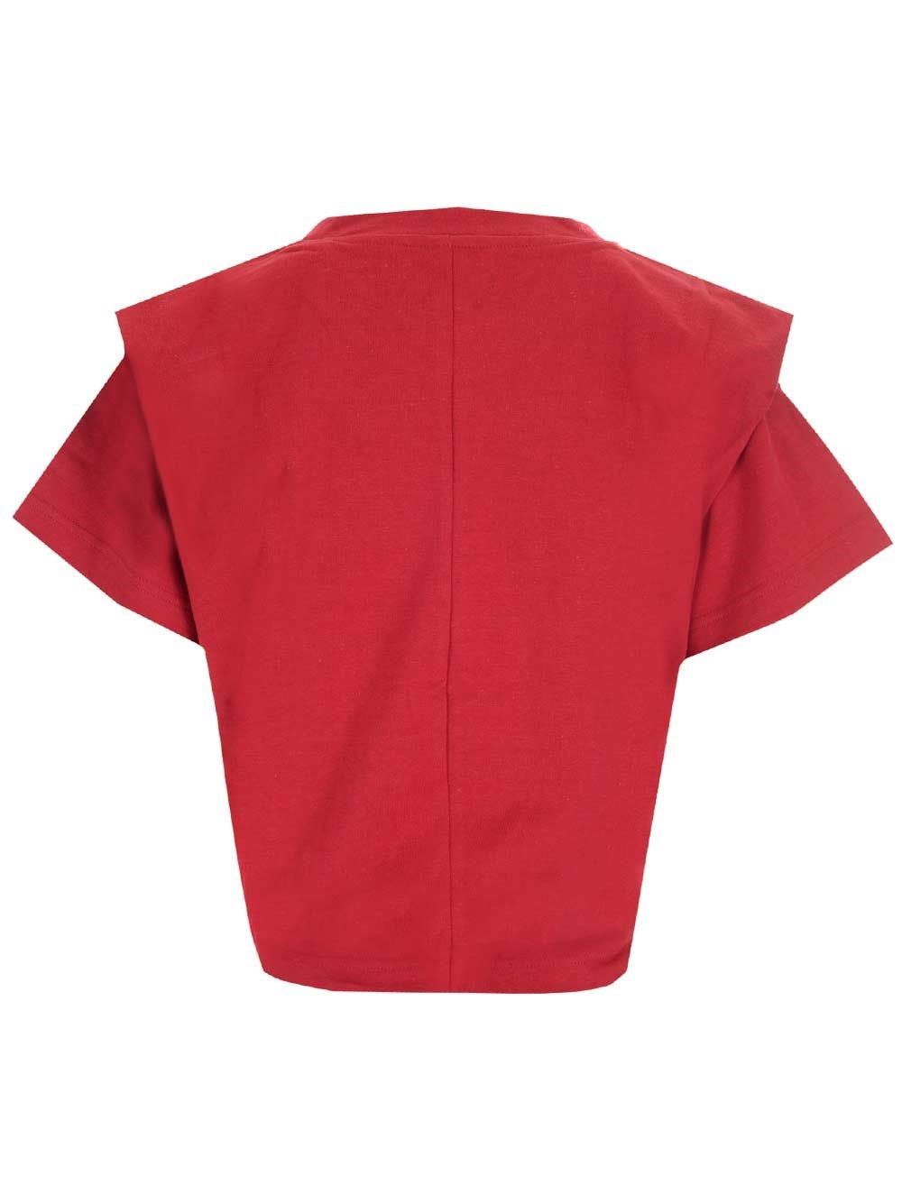 ISABEL MARANT Cottons ISABEL MARANT WOMEN'S RED OTHER MATERIALS T-SHIRT