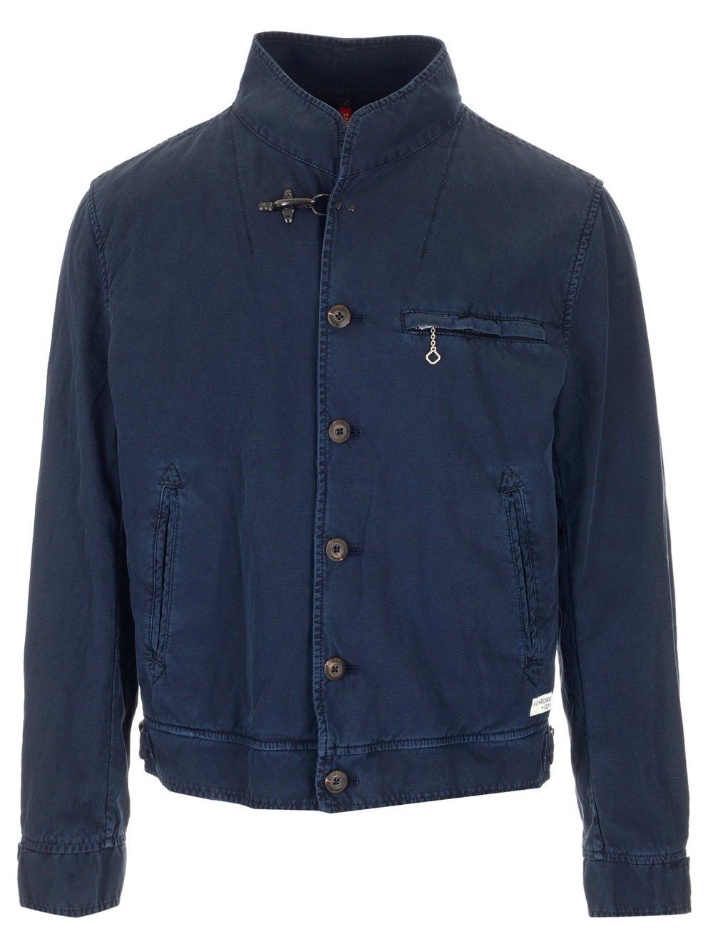 Fay FAY MEN'S BLUE OTHER MATERIALS OUTERWEAR JACKET