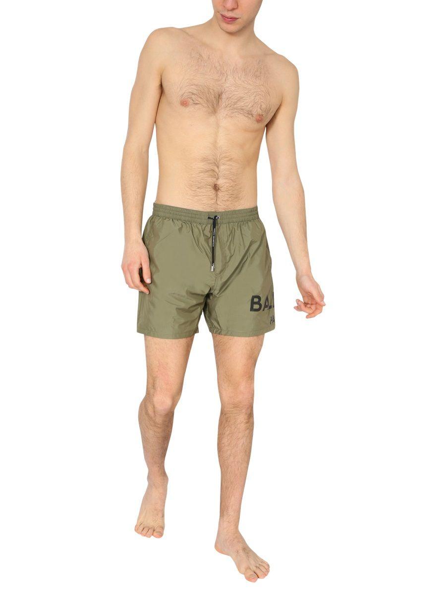 BALMAIN Clothing BALMAIN MEN'S GREEN POLYESTER TRUNKS