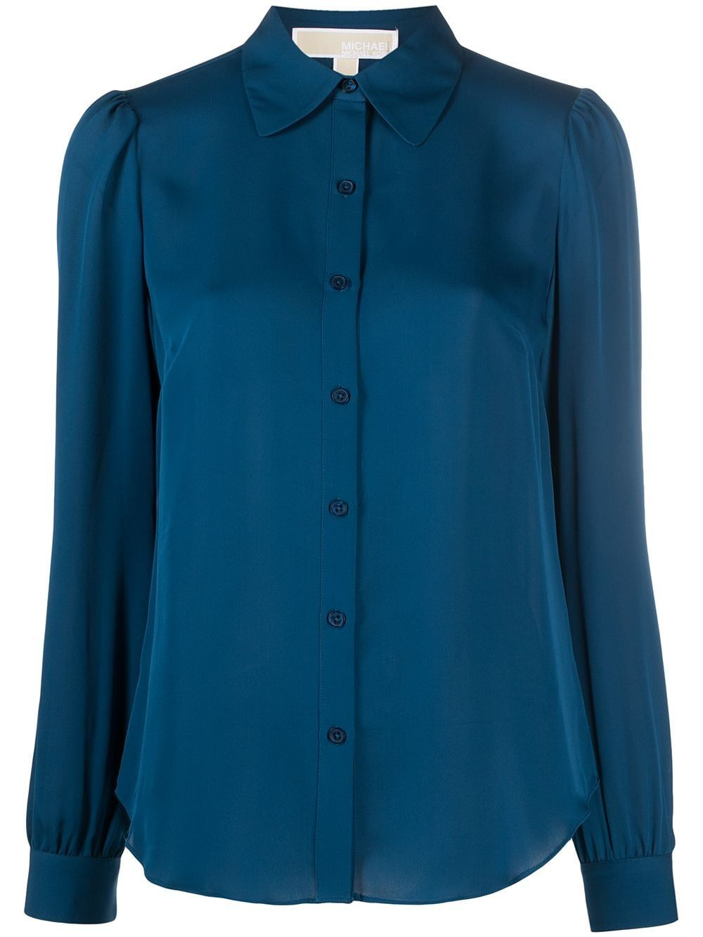 Michael Kors MICHAEL KORS WOMEN'S BLUE SILK SHIRT