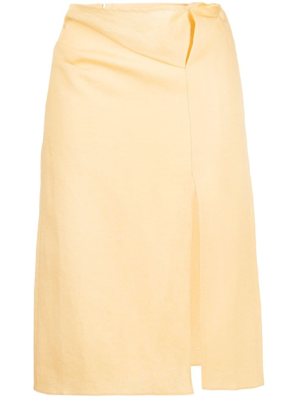 Jacquemus JACQUEMUS WOMEN'S YELLOW LINEN SKIRT