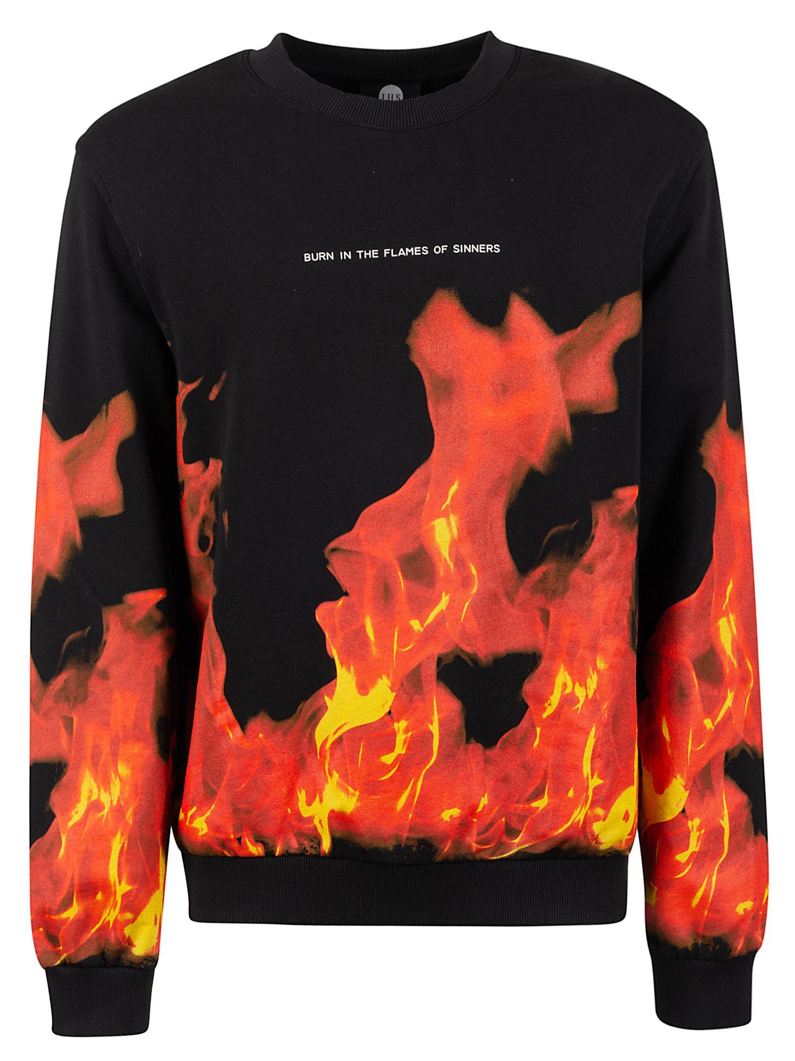 Ihs Black Cotton Sweatshirt