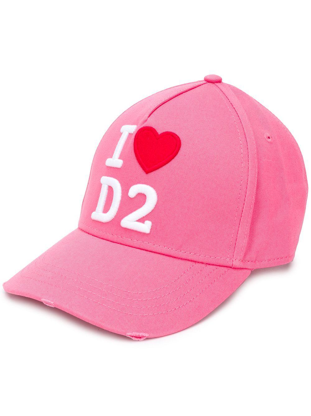 Dsquared2 DSQUARED2 WOMEN'S PINK COTTON HAT