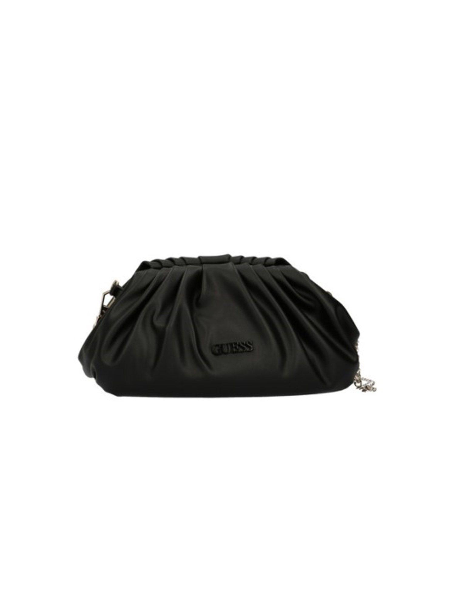 Guess GUESS WOMEN'S BLACK LEATHER SHOULDER BAG