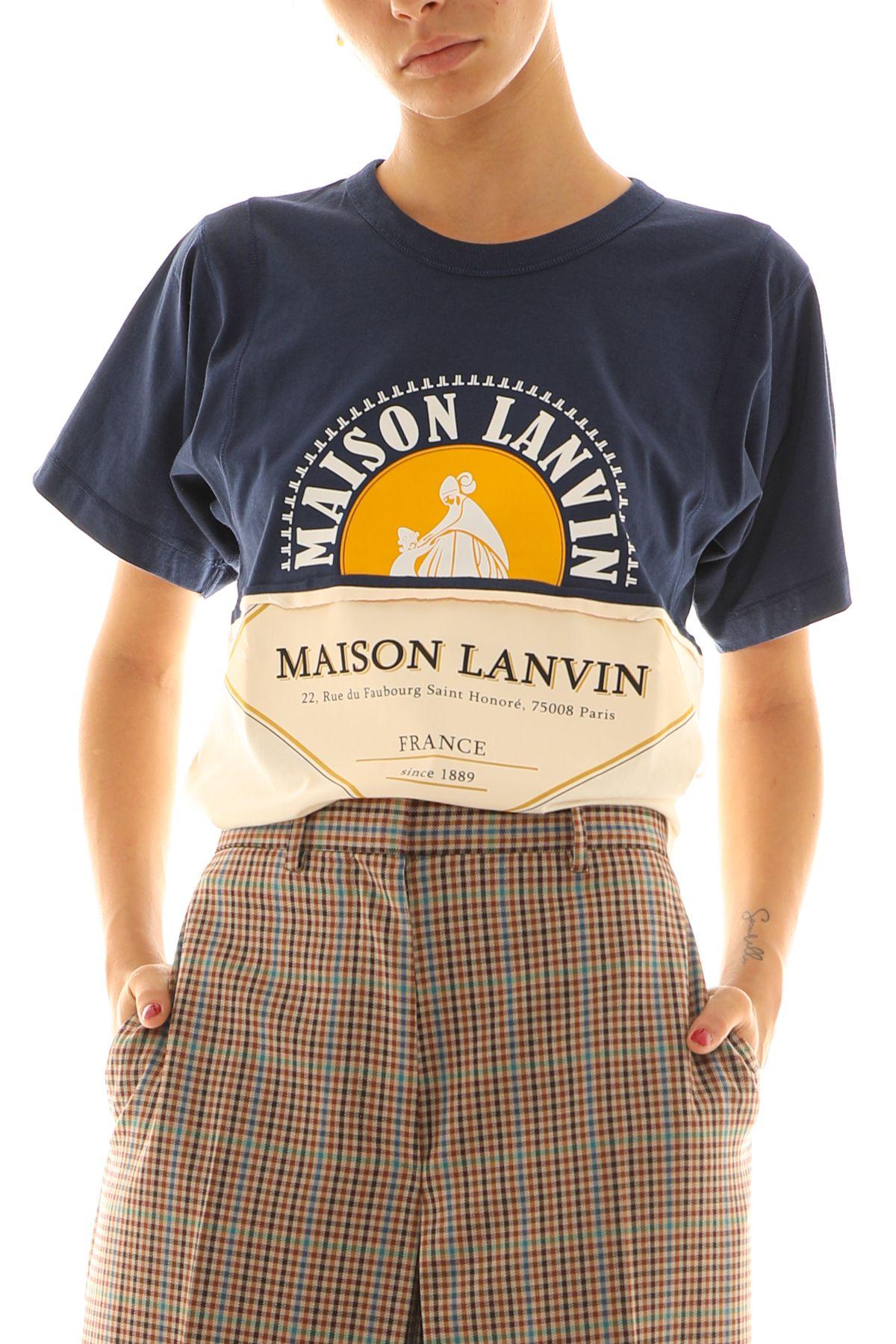 Lanvin LANVIN WOMEN'S BLUE COTTON T-SHIRT