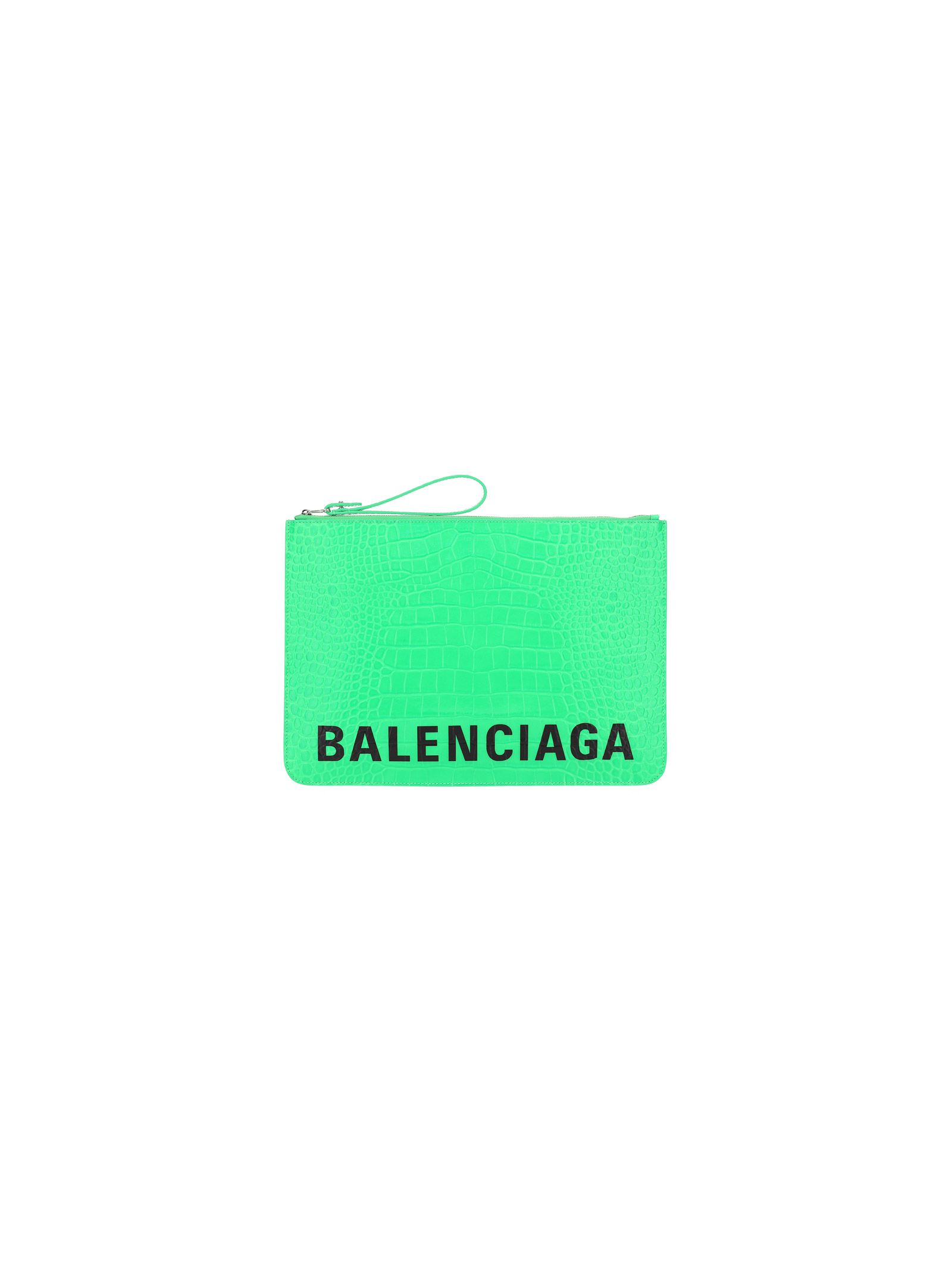 Balenciaga BALENCIAGA WOMEN'S GREEN LEATHER POUCH
