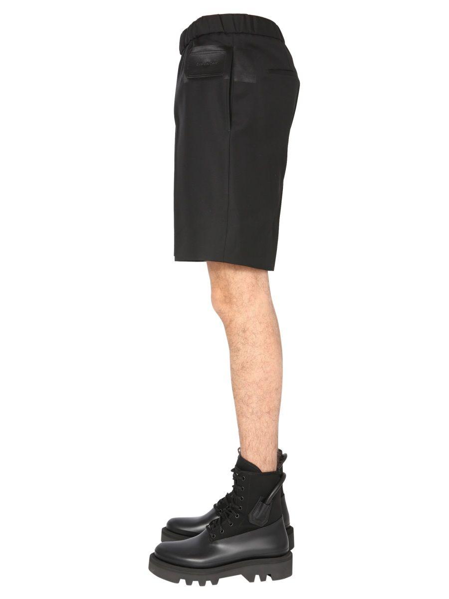 GIVENCHY Shorts GIVENCHY MEN'S BLACK OTHER MATERIALS SHORTS