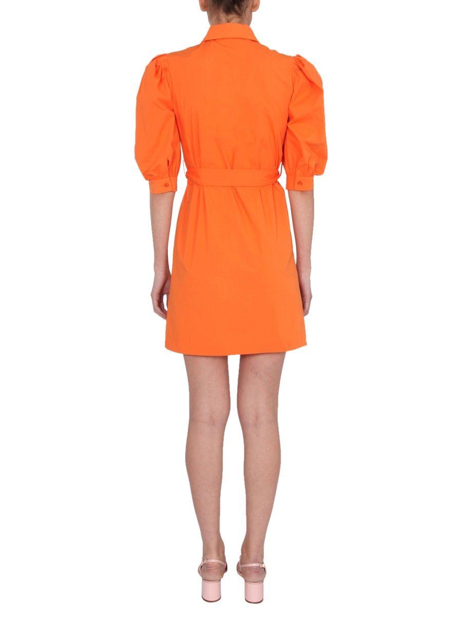 BOUTIQUE MOSCHINO Mini dresses BOUTIQUE MOSCHINO WOMEN'S ORANGE OTHER MATERIALS DRESS