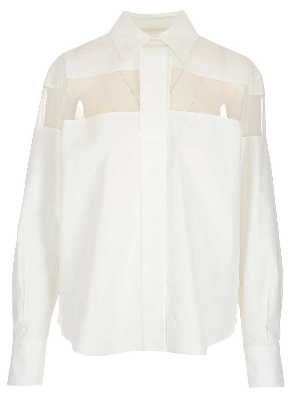 Valentino VALENTINO WOMEN'S WHITE OTHER MATERIALS SHIRT