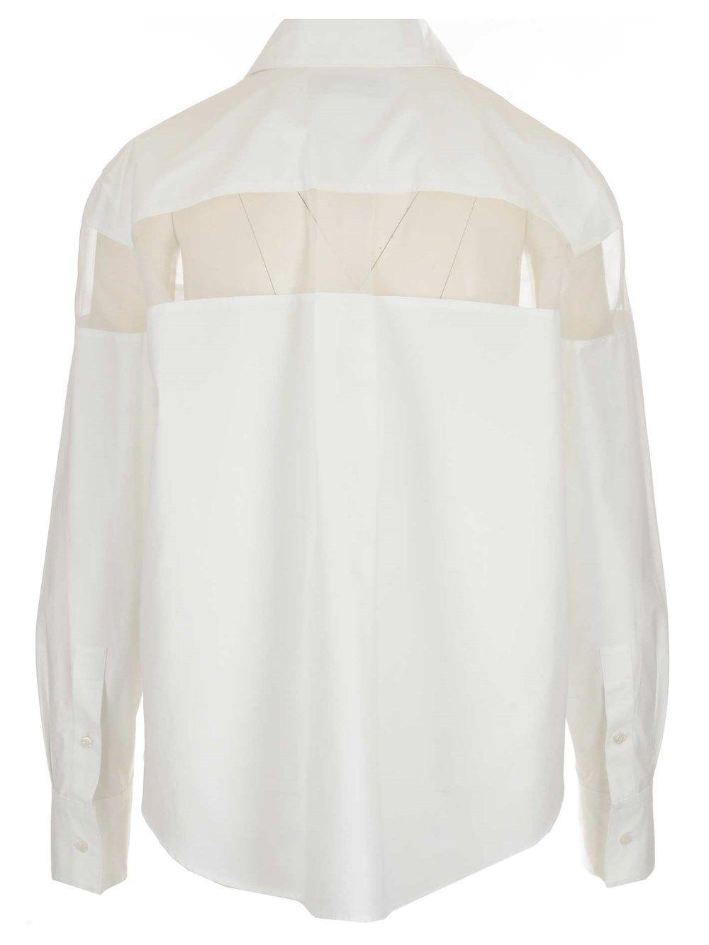 VALENTINO Cottons VALENTINO WOMEN'S WHITE OTHER MATERIALS SHIRT