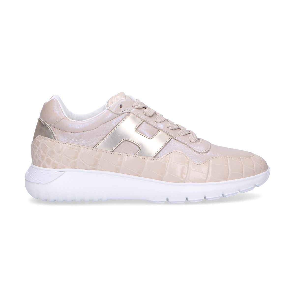 Hogan Pink Leather Sneakers